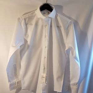 Nordstron Rack white men's slimfit dress shirt.